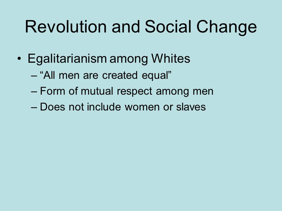 Revolution and Social Change
