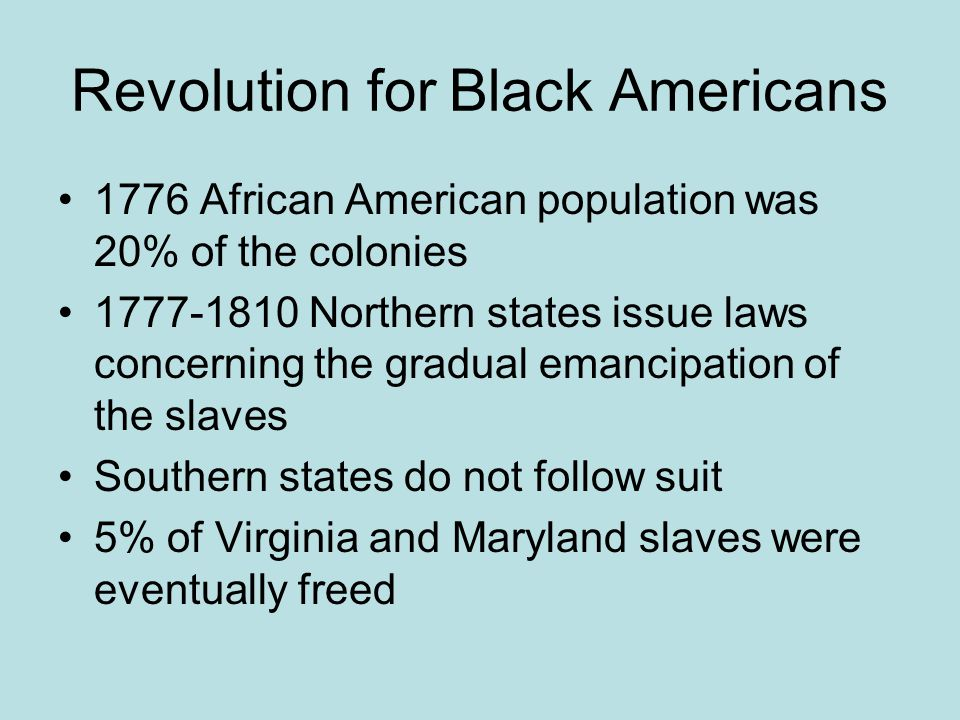 Revolution for Black Americans