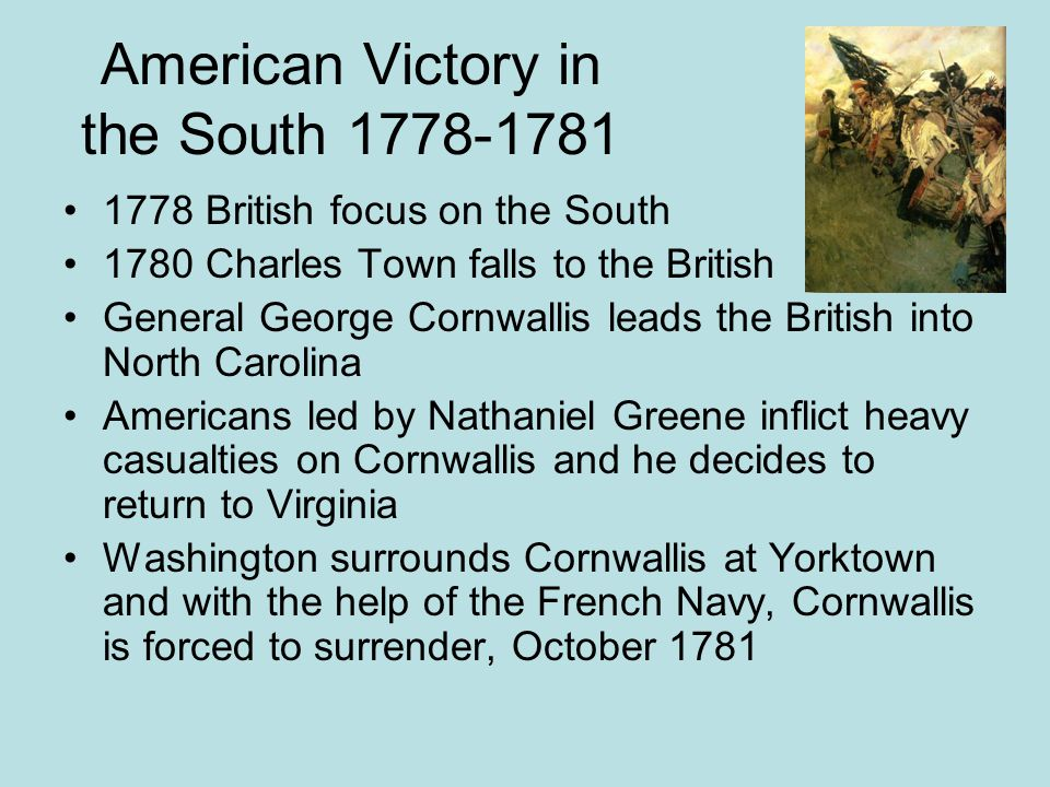 American Victory in the South 1778-1781