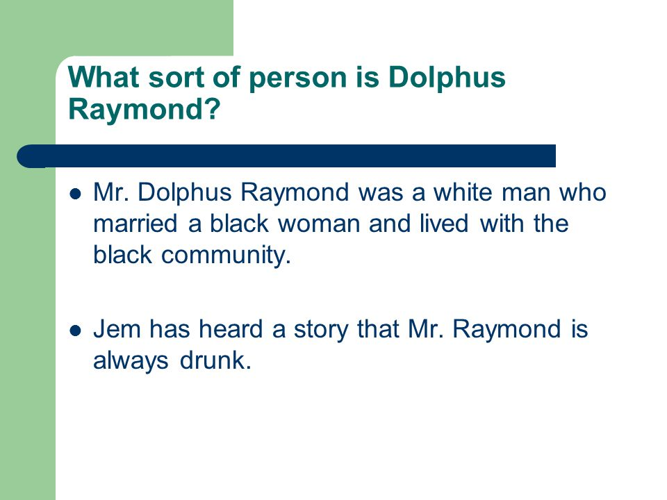What sort of person is Dolphus Raymond