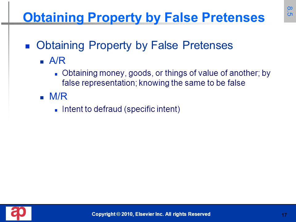 Obtaining Property by False Pretenses