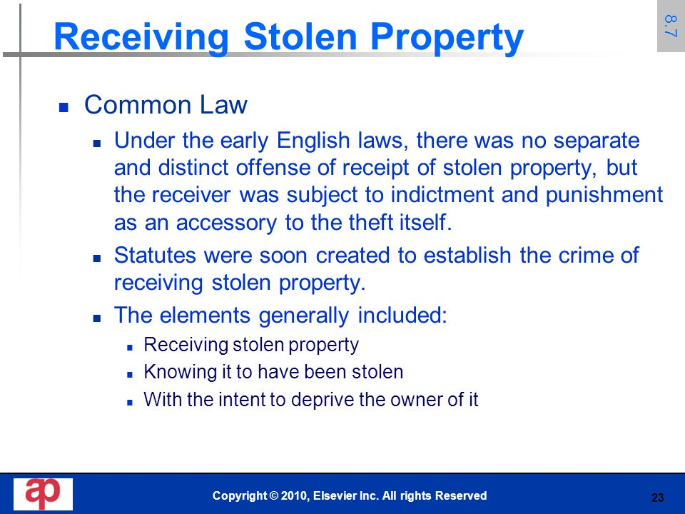 Receiving Stolen Property