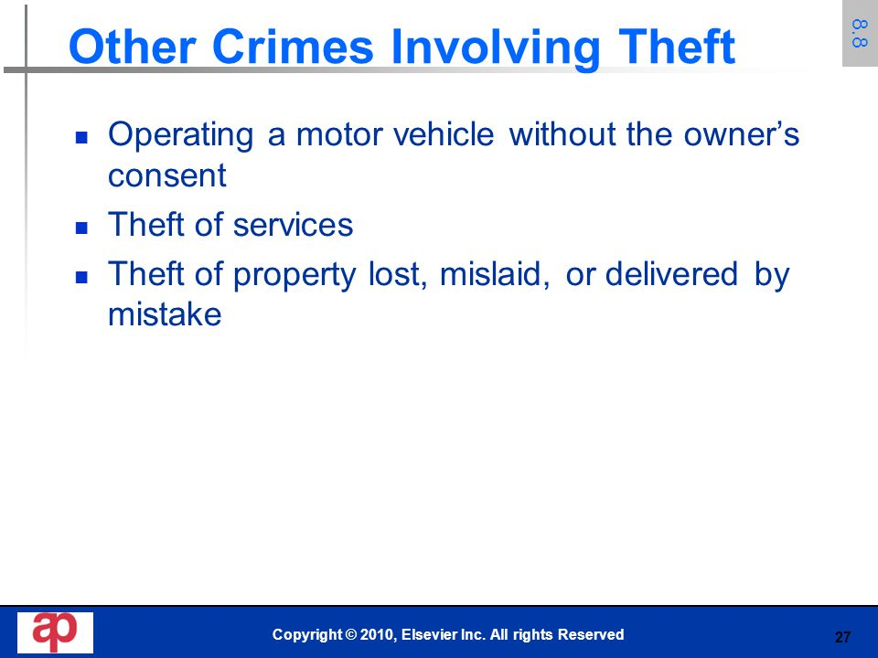 Other Crimes Involving Theft