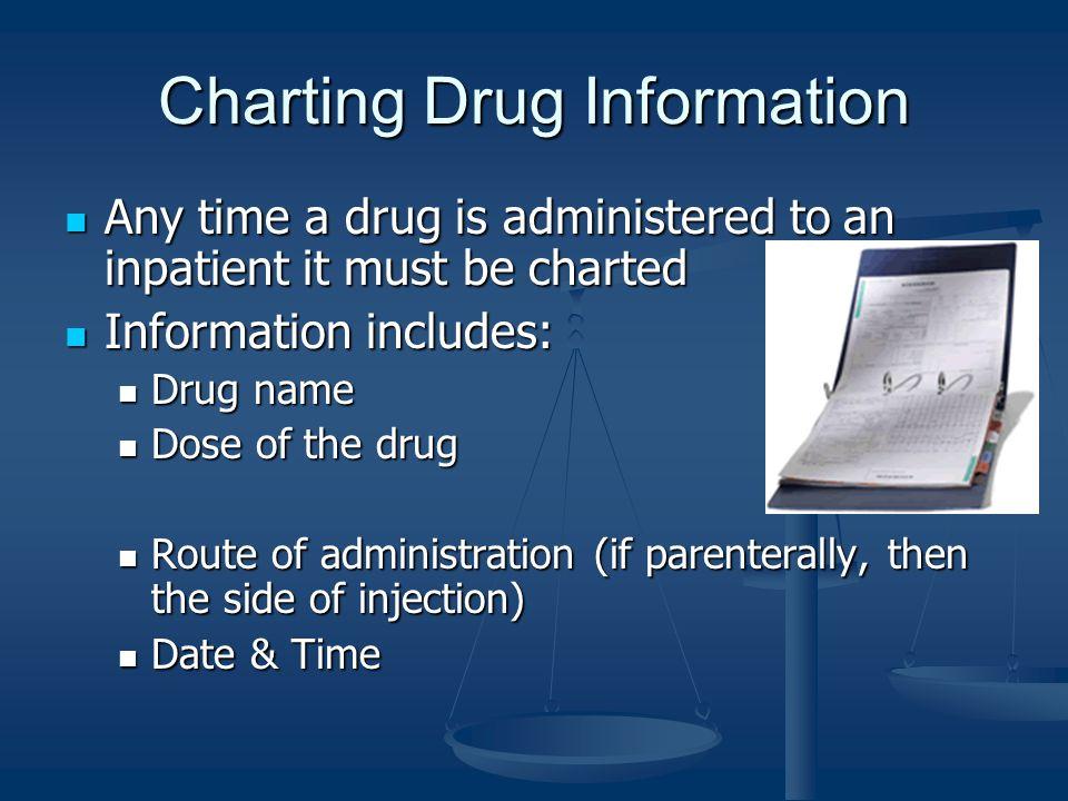 Charting Drug Information