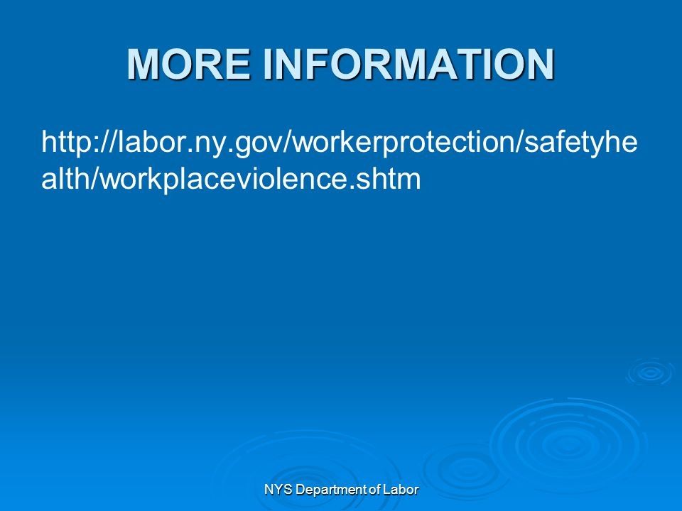 NYS Department of Labor