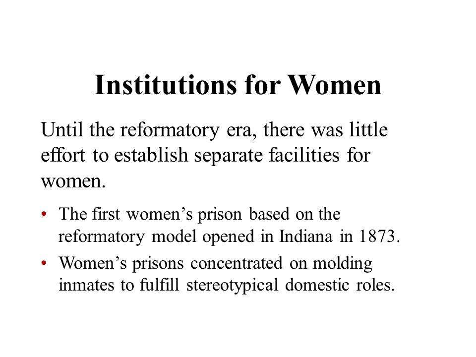 Institutions for Women