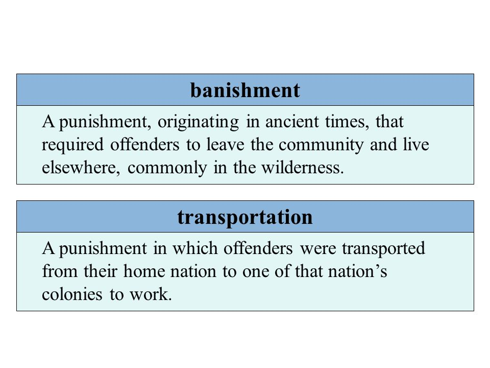 banishment transportation