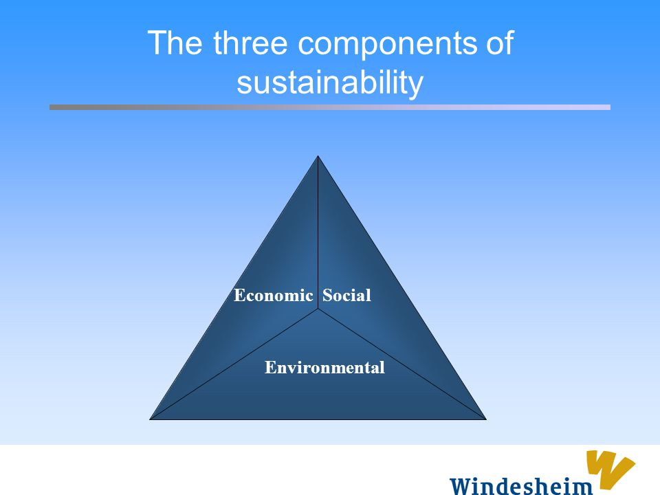 The three components of sustainability