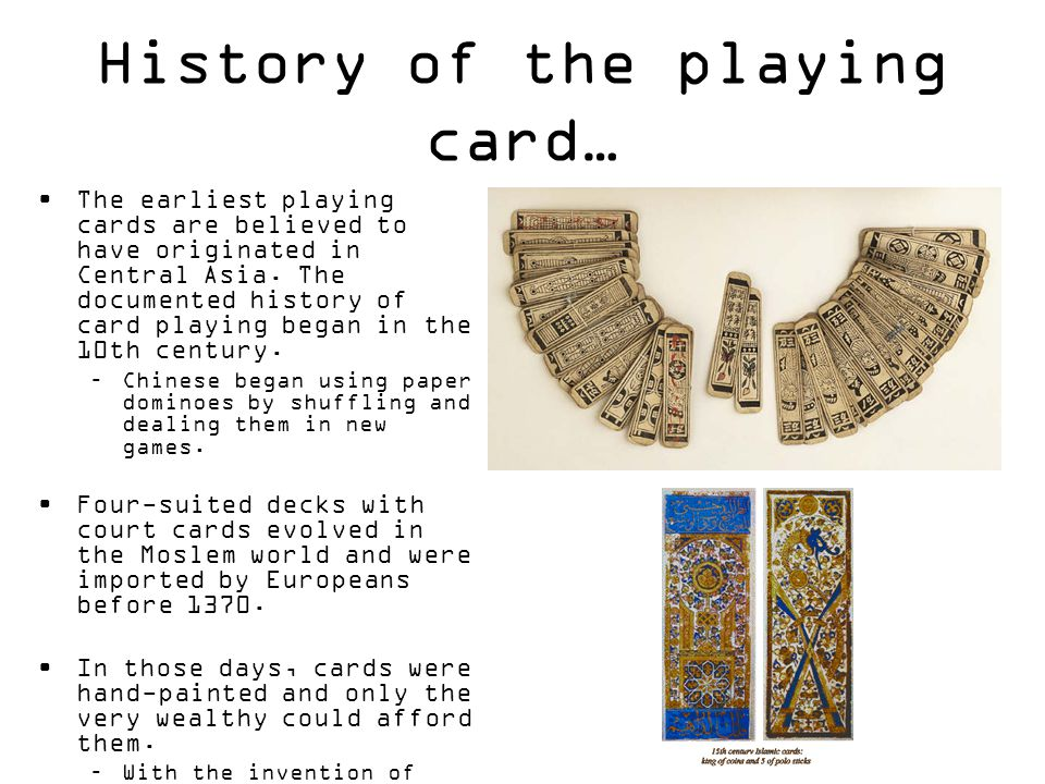 History of the playing card…