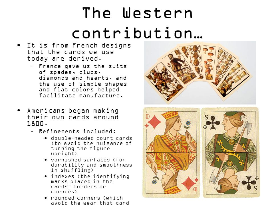 The Western contribution…