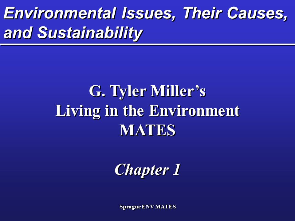 Environmental Issues, Their Causes, and Sustainability