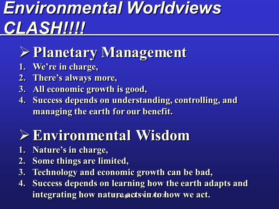 Environmental Worldviews CLASH!!!!