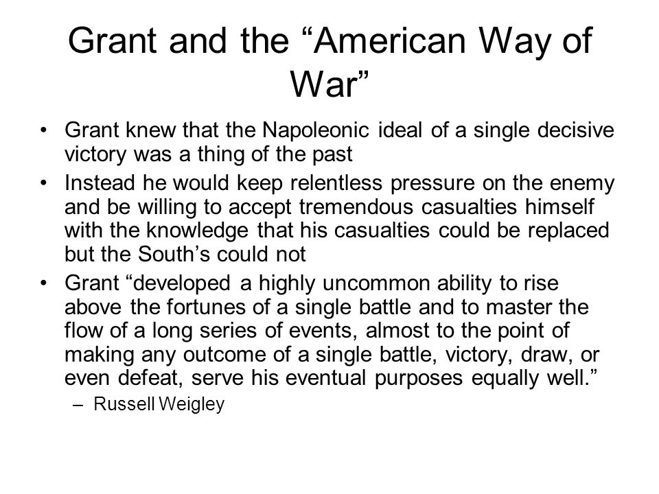Grant and the American Way of War
