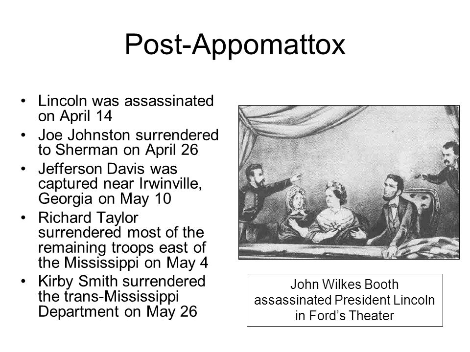 John Wilkes Booth assassinated President Lincoln in Ford's Theater