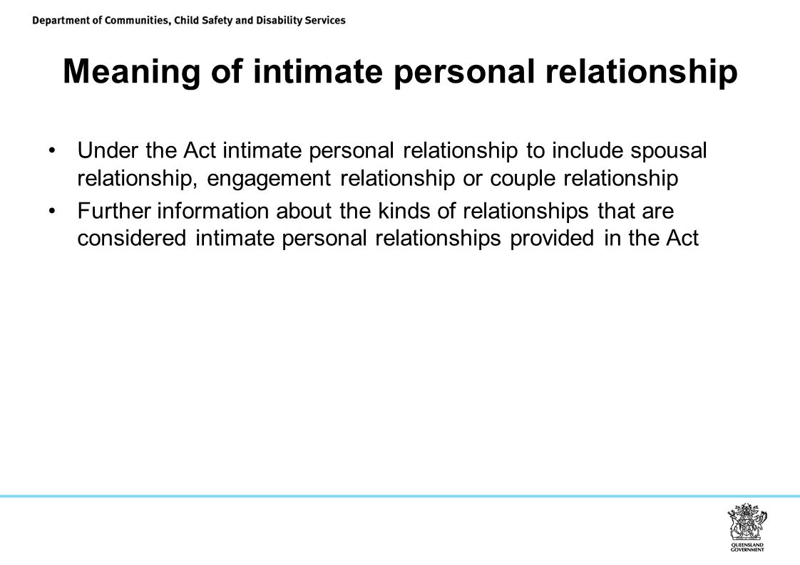 Meaning of intimate personal relationship