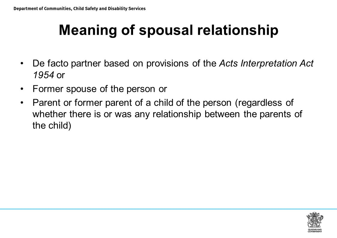 Meaning of spousal relationship