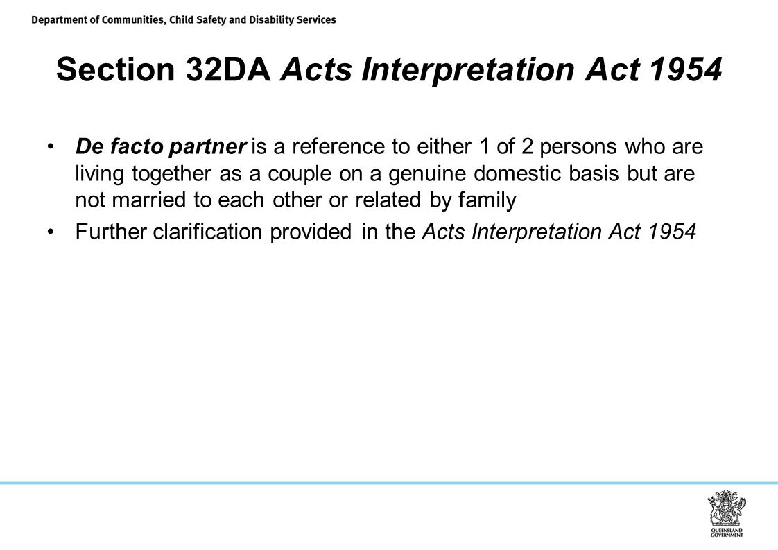 Section 32DA Acts Interpretation Act 1954