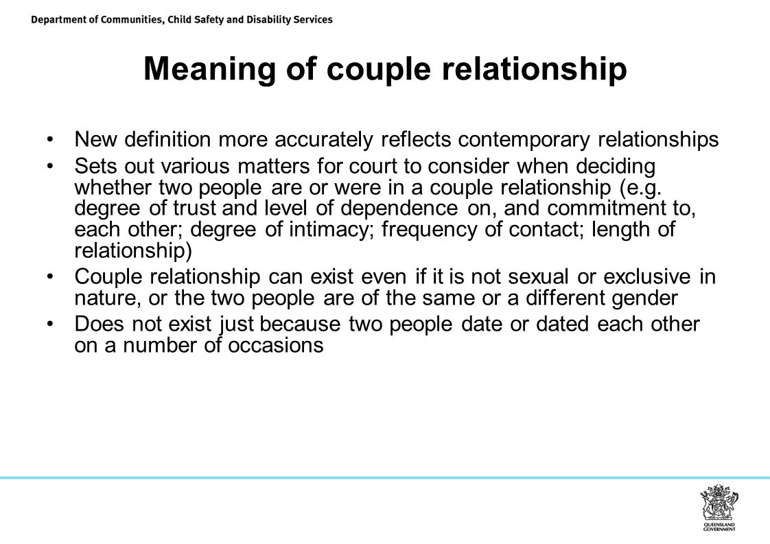 Meaning of couple relationship