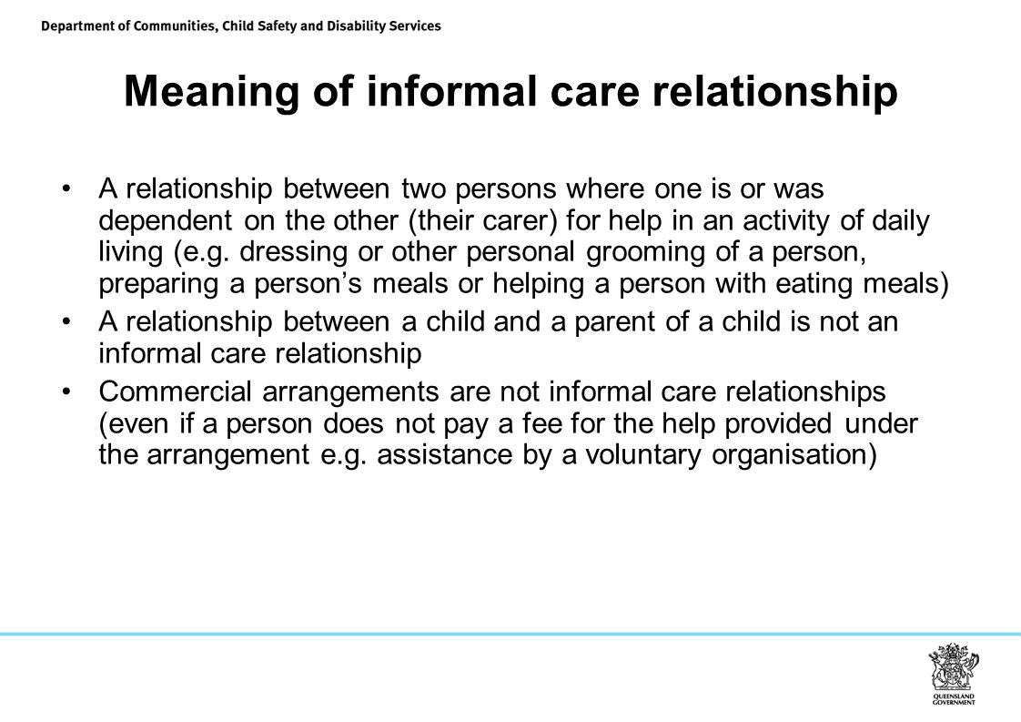 Meaning of informal care relationship