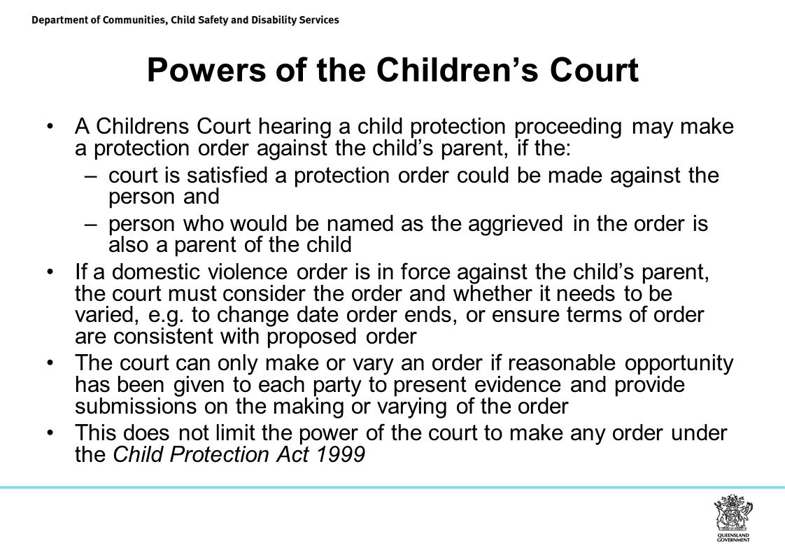 Powers of the Children's Court