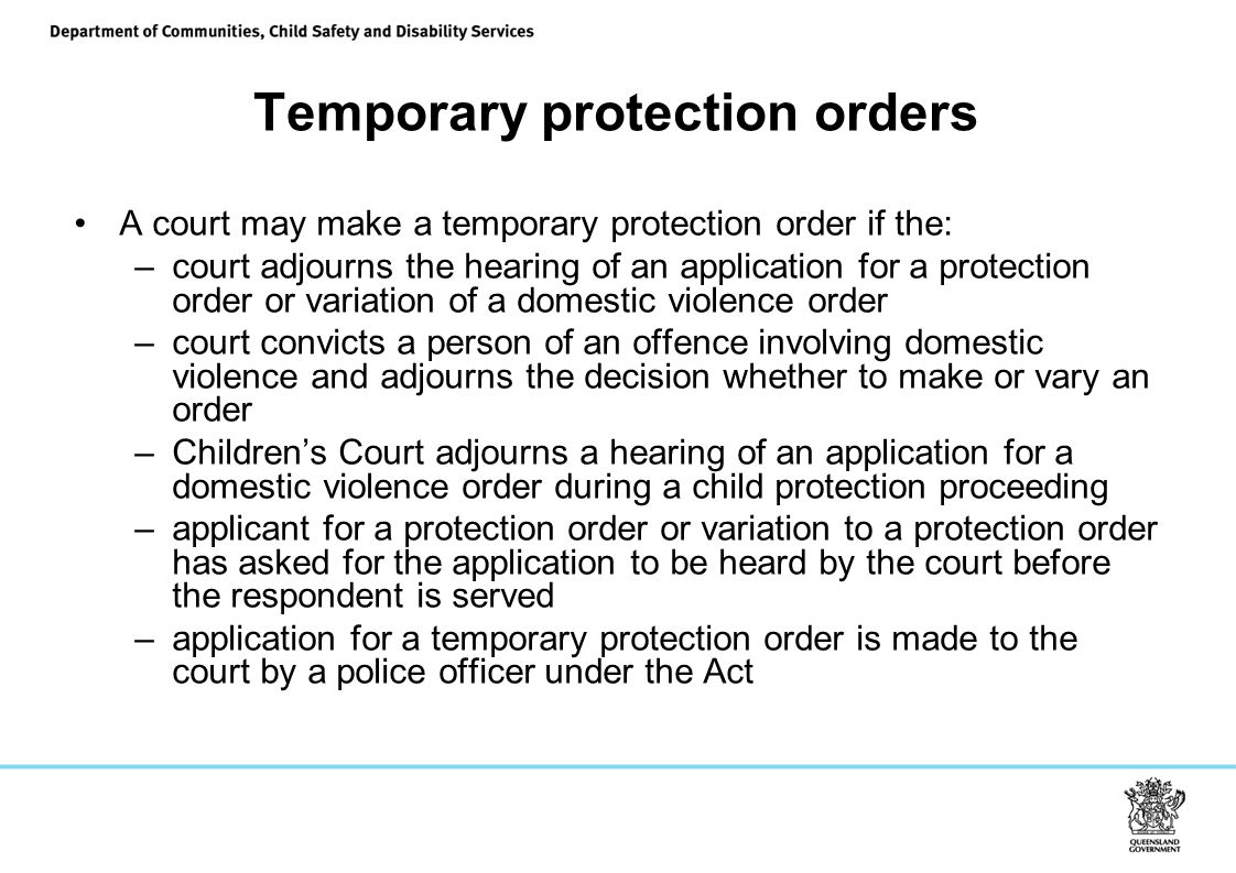 Temporary protection orders