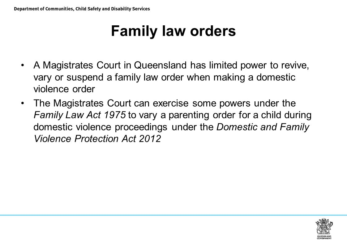 Family law orders