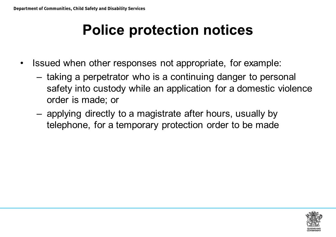 Police protection notices