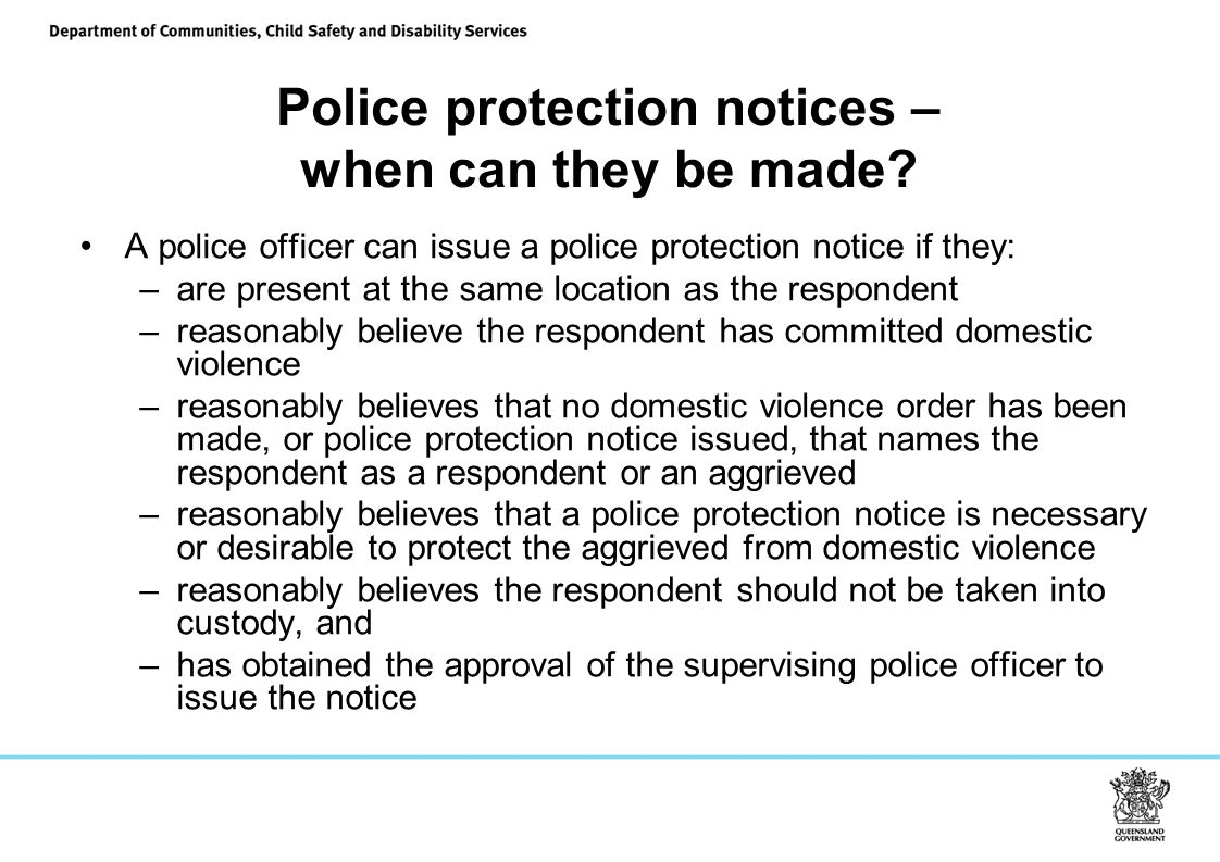 Police protection notices – when can they be made