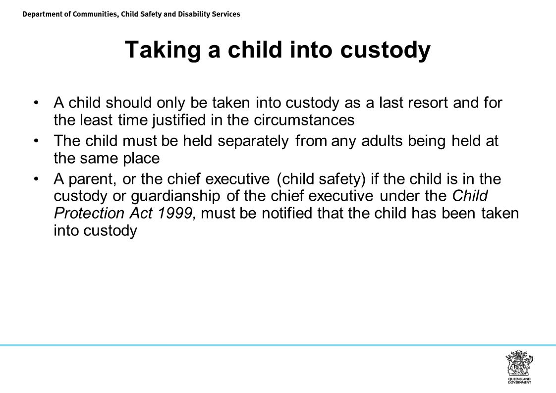 Taking a child into custody