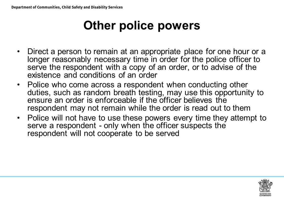 Other police powers