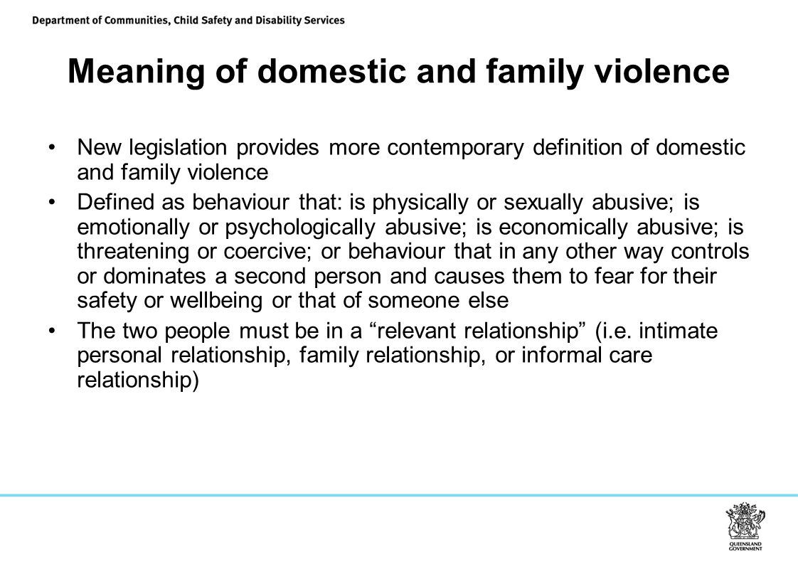 Meaning of domestic and family violence