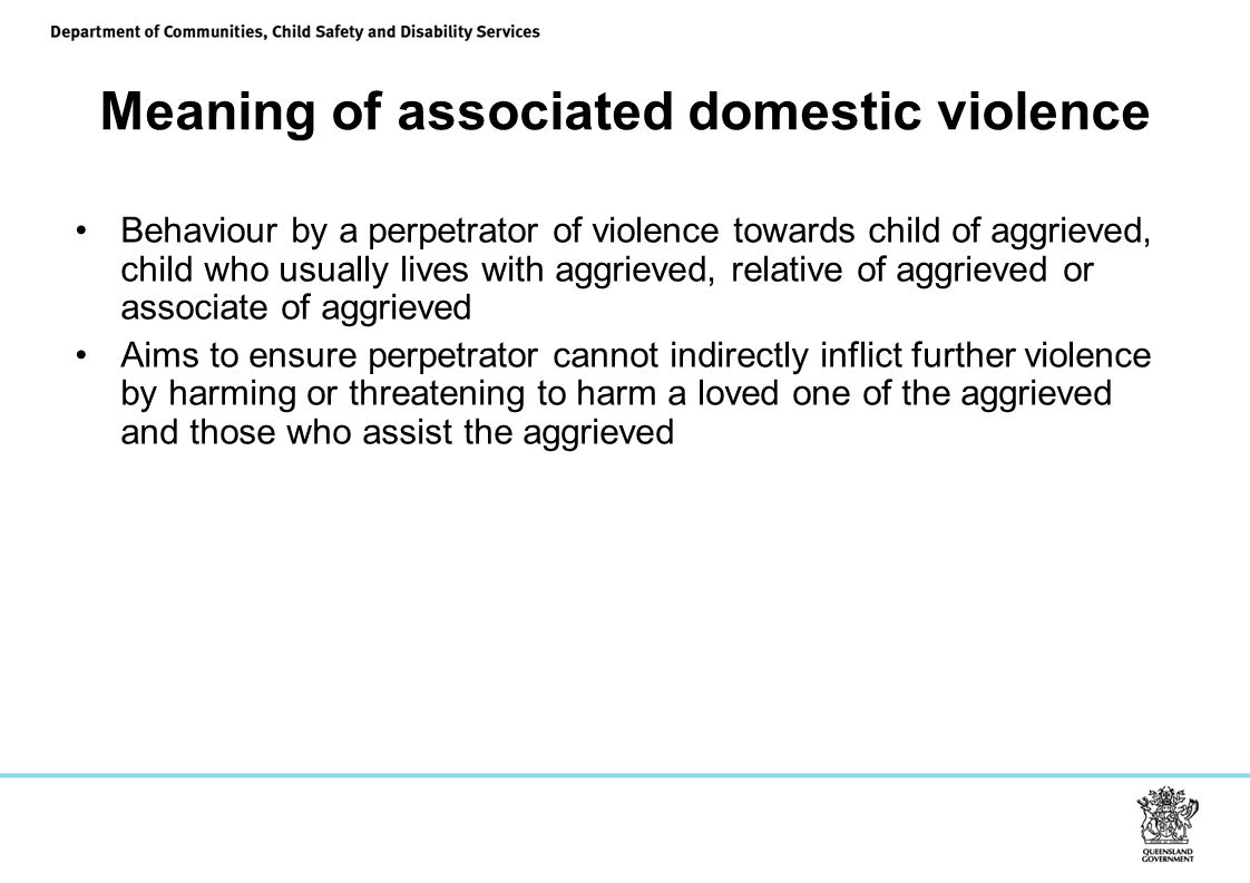 Meaning of associated domestic violence