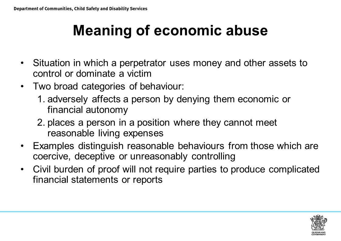 Meaning of economic abuse