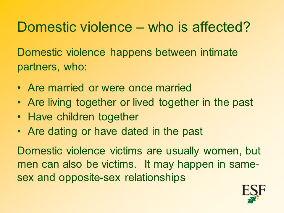 Domestic violence – who is affected
