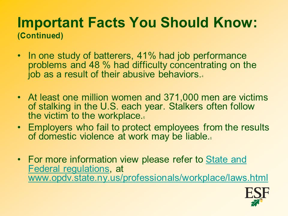 Important Facts You Should Know: (Continued)