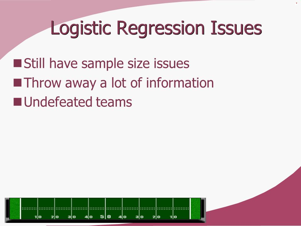 Logistic Regression Issues