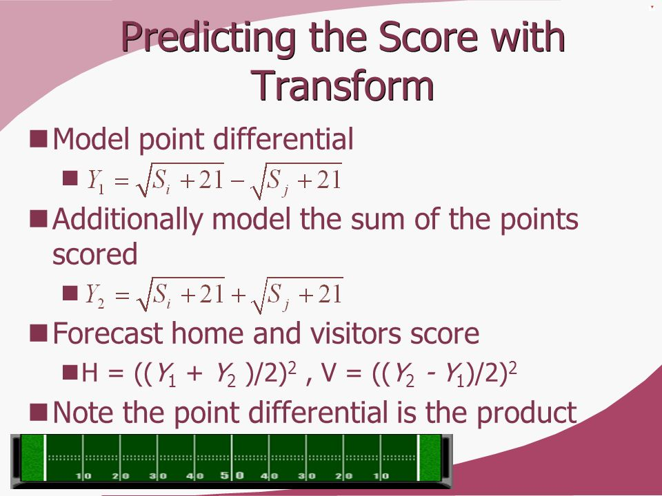 Predicting the Score with Transform