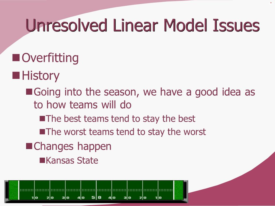 Unresolved Linear Model Issues