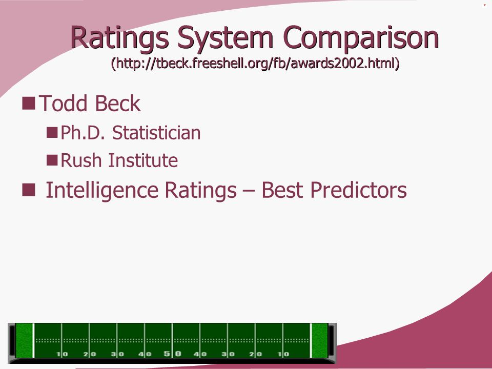 Ratings System Comparison (http://tbeck. freeshell. org/fb/awards2002