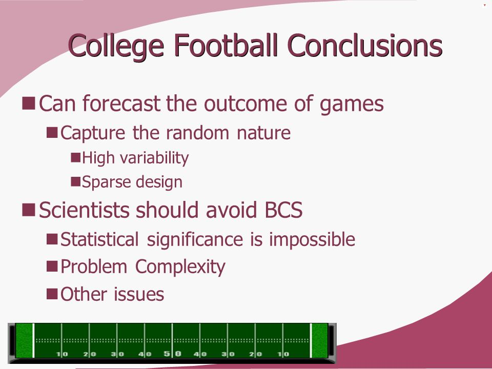 College Football Conclusions