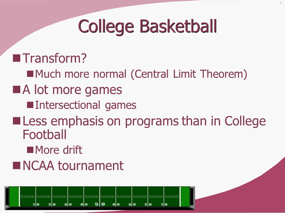 College Basketball Transform A lot more games