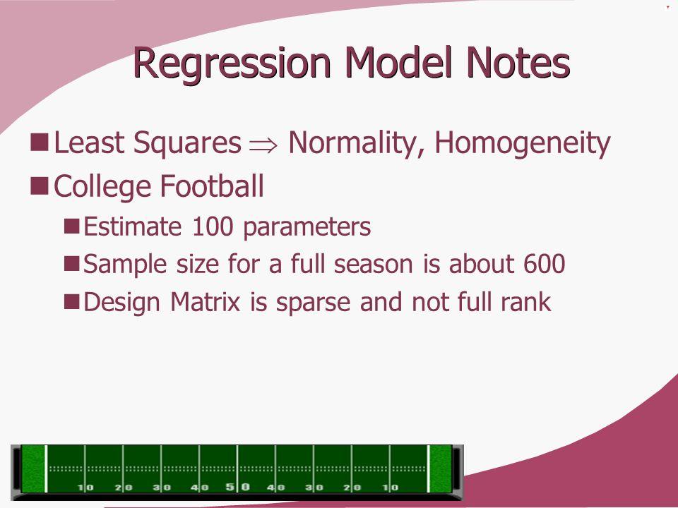 Regression Model Notes