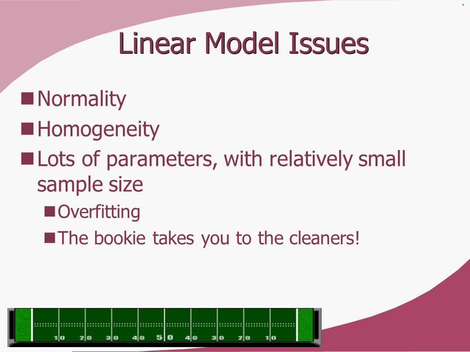 Linear Model Issues Normality Homogeneity