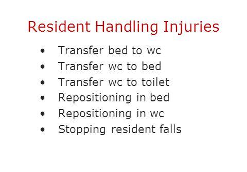 Resident Handling Injuries