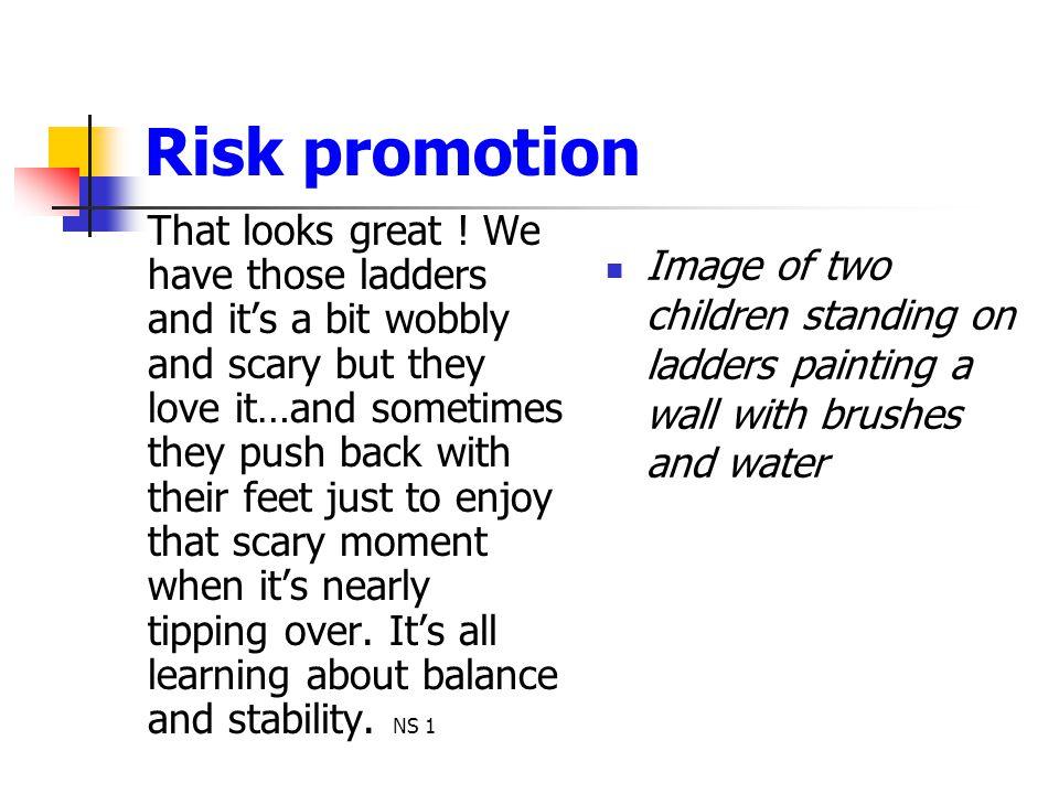 Risk promotion
