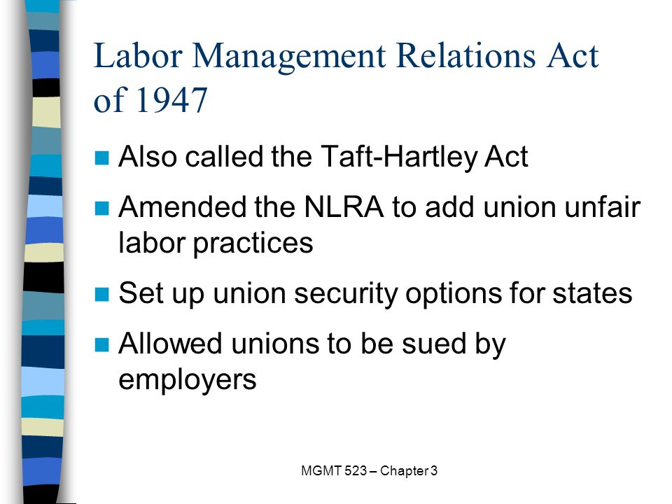 Labor Management Relations Act of 1947