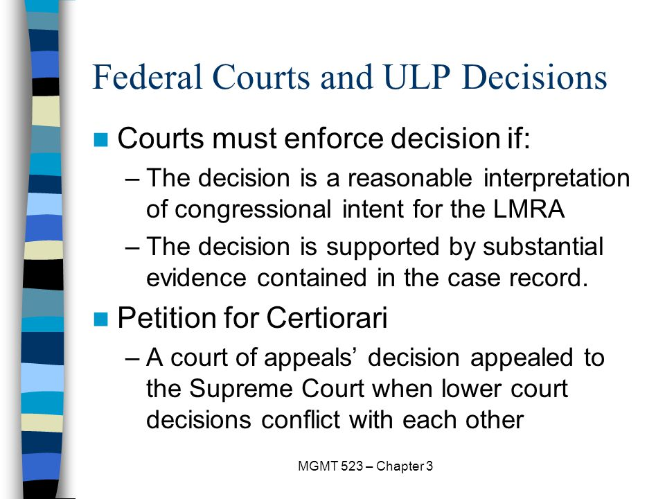 Federal Courts and ULP Decisions