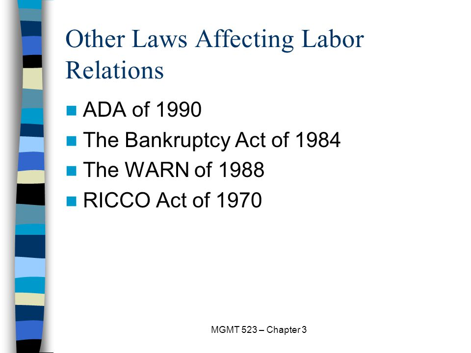 Other Laws Affecting Labor Relations