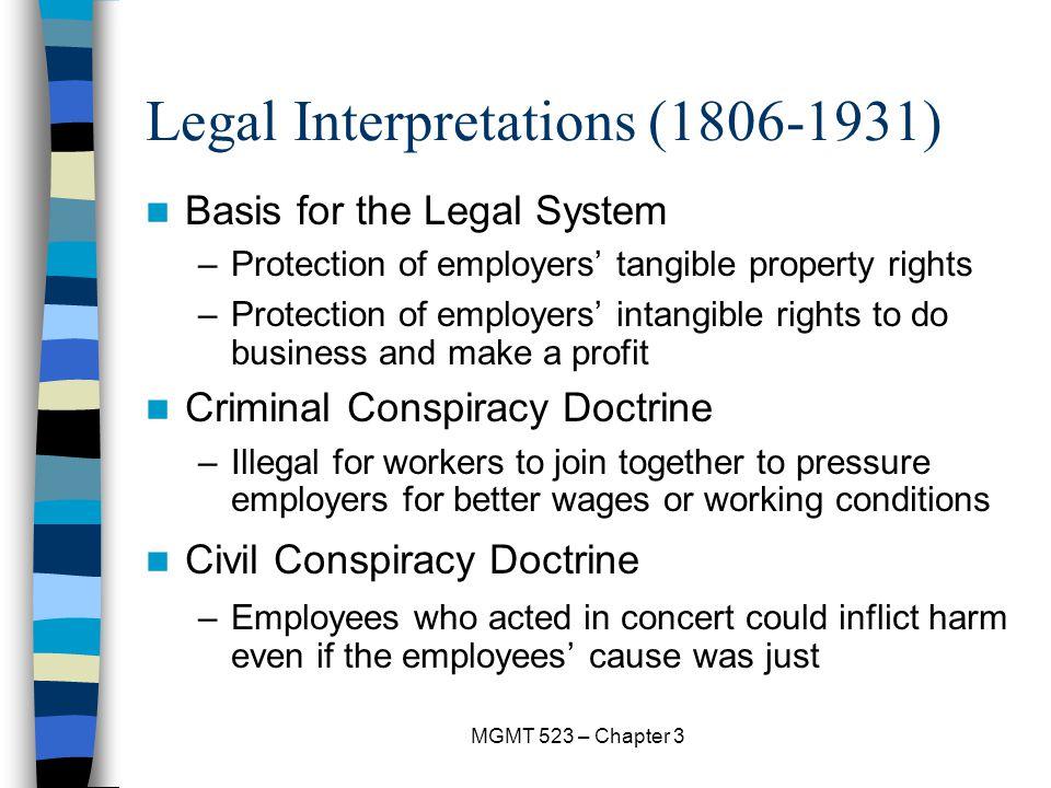 Legal Interpretations (1806-1931)