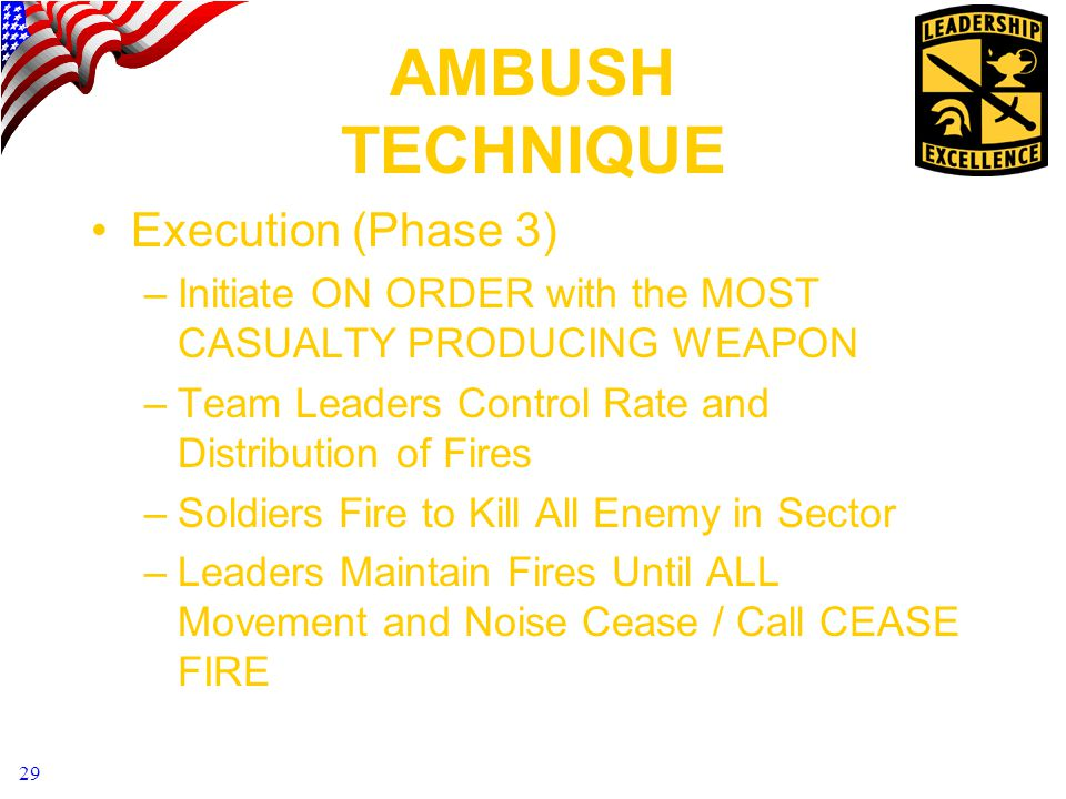 AMBUSH TECHNIQUE Execution (Phase 3)